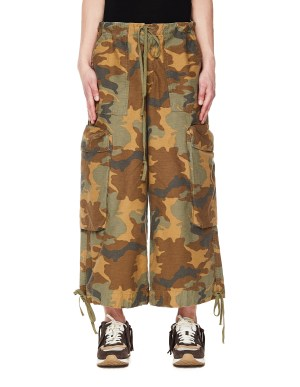 Greg Lauren Cotton Camo Trousers