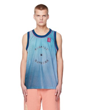 Pigalle Blue Mesh Tank Top