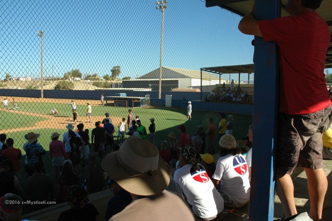 The traditional Baja Ha-Ha ball game between cruisers and players from local little league teams.