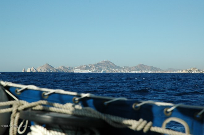 Good-bye, Cabo San Lucas; and the southern tip of Baja California.