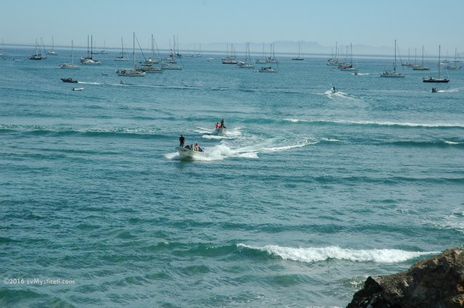 ...but catching a panga was faster and easier, especially for those of us anchored farther out