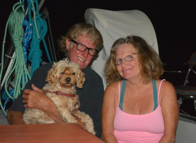 Bonnie, Johnny & Shelley from s/v Planet Waves, Le Marin, Martinique, Nov 2016