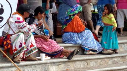 The Huichol indigenous people from the Sierra Madre Occidental mountains