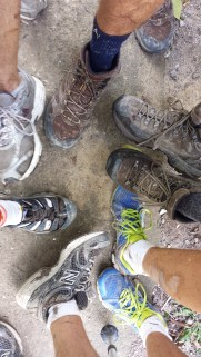 first time this lot has had shoes on in a long time. Mud cover from hike