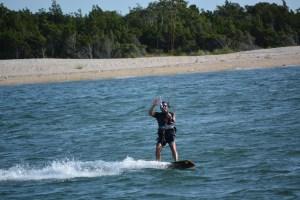 Pete kiting waving