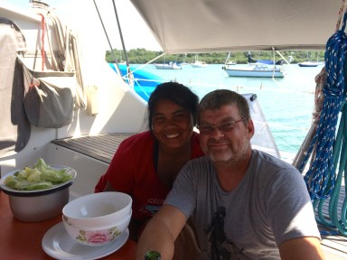 Scott & Noi from SV Symbiosis, Luperon, Dominican Republic, March 2016