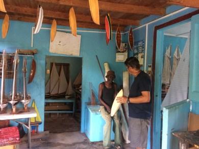Boat builders in Bequia