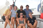 Mike, Holly, Richard and Audrey reunion in Sint Maarten