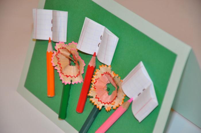 Наступающим, как сделать открытку из бумаги учителю