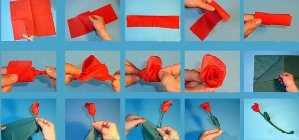 Τριαντάφυλλο από τα μαντηλάκια Master Class