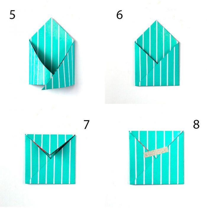 Конвертті оригамиді қалай бүктеуге болады