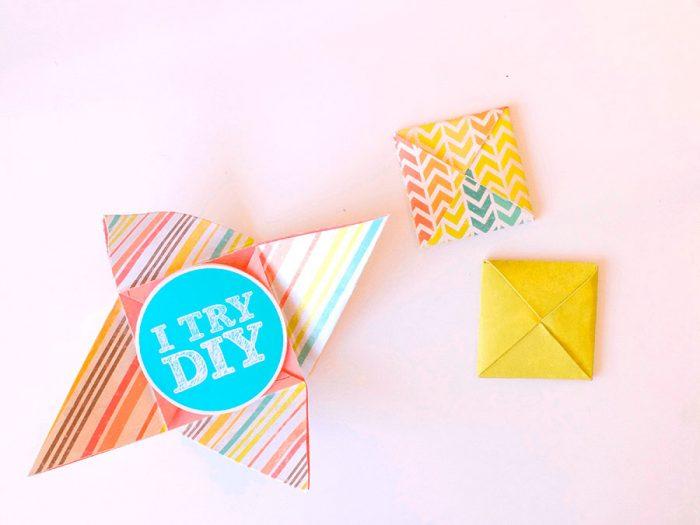 Оригамидің жабық конверті