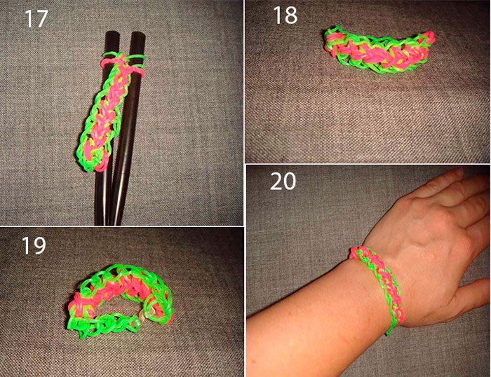 Bracelet dumura sirena mula sa mga materyales materyales goma