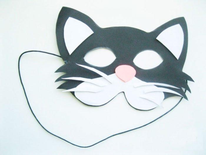 Эмоциональная маска готова! Маска из бумаги «Котик»