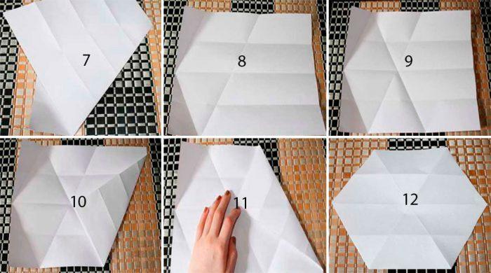 Оригами мастер-класіндегі снежинкалар