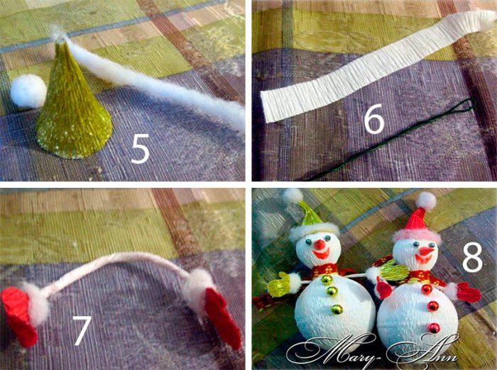 Lumiukko valmistettu makeista ja aallotetusta paperiluokasta