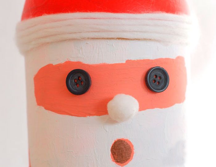 Plastic bottle Santa Claus.