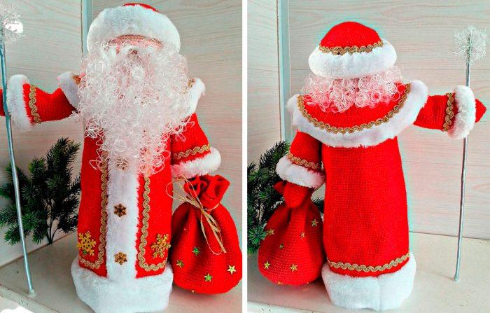 Dirajut Santa Claus.