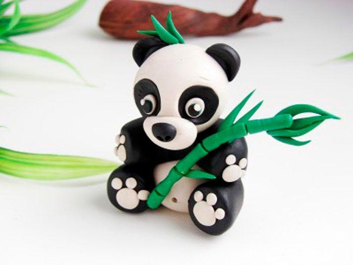 Панда пластилин