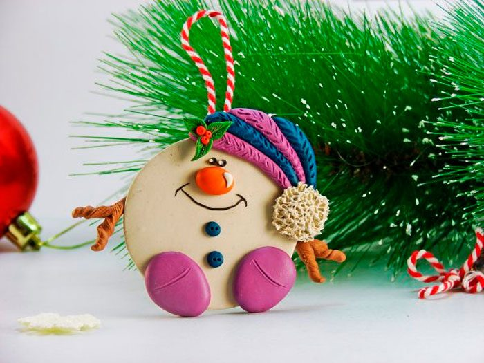 "Suspension ""Snowman"" van plasticine"