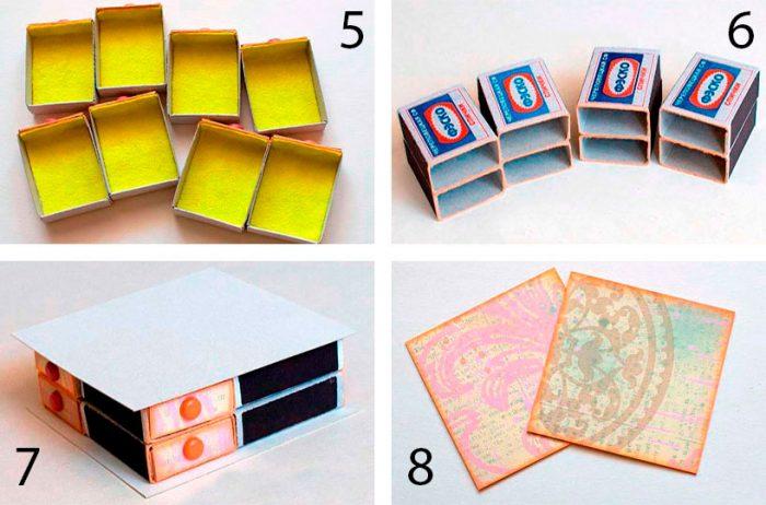 Dresser Match dobozokból készült
