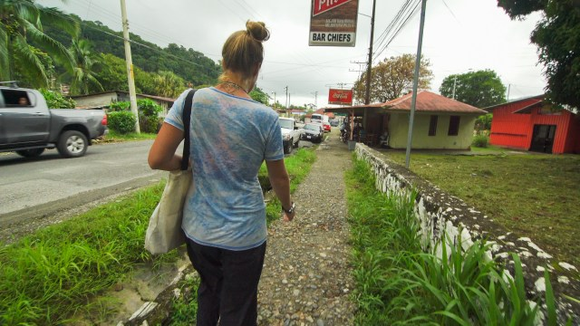 Doing the check out walk in Golito