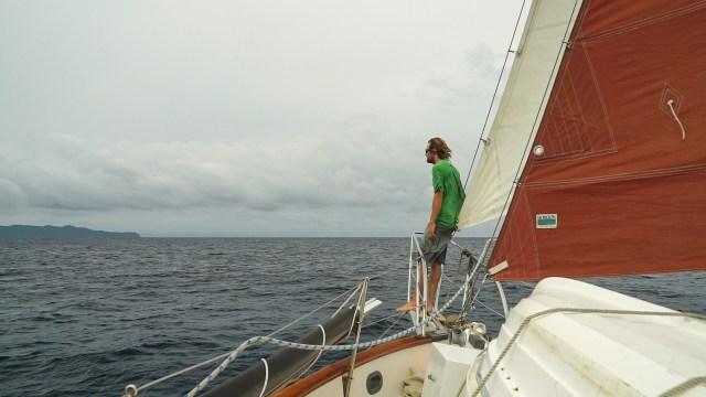 Jon enjoying the fact we are sailing