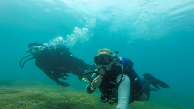 Jon and I diving in the Las Secas