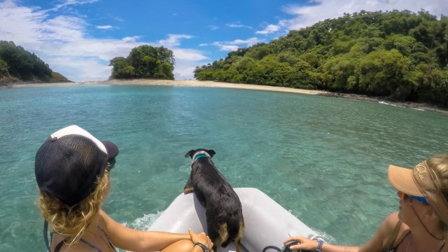 going to the beach at Isla Secas
