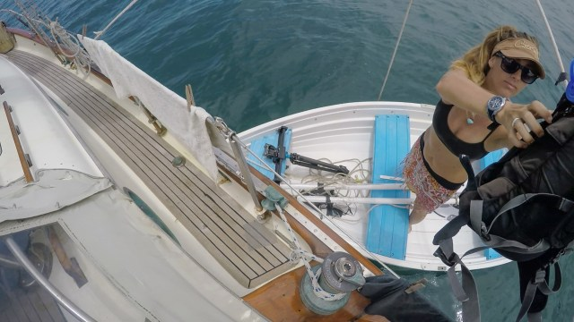 Loading up the Dinghy for a hike at Punta Naranjo