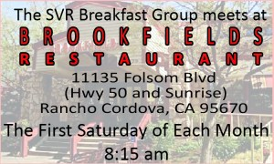 SVR 1st Saturday Breakfast @ Brookfields | Rancho Cordova | California | United States
