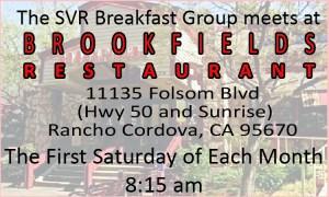 SVR 1st Saturday Breakfast @ Brookfields | Rancho Cordova | California | United States