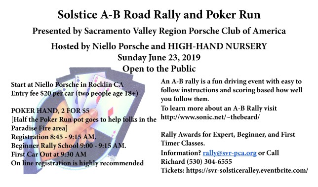 Solstice Rally @ Niello Porsche | Rocklin | California | United States