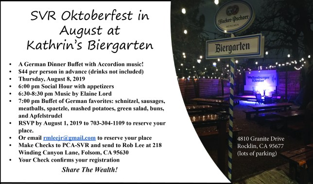 Oktoberfest in August Dinner @ Kathrin's Biergarden | Rocklin | California | United States