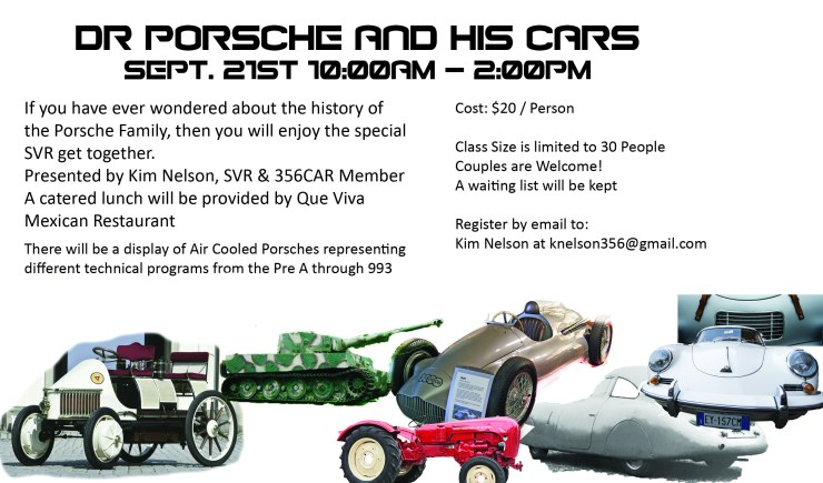 Dr. Porsche and his Cars - Wait list in Effect
