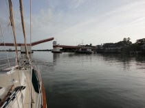At anchor in New Smyrna Beach
