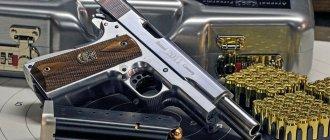 Уникальный двухствольный российский пистолет AF2001-A1. Оружие огромной огневой мощи