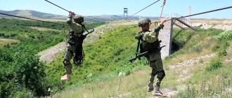 Покоренные «Четыре стихии»: кадры подготовки бойцов ВДВ на горном полигоне Раевский