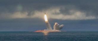 Опубликованы кадры пуска «Булавы» ракетным подводным крейсером «Князь Олег» в Белом море