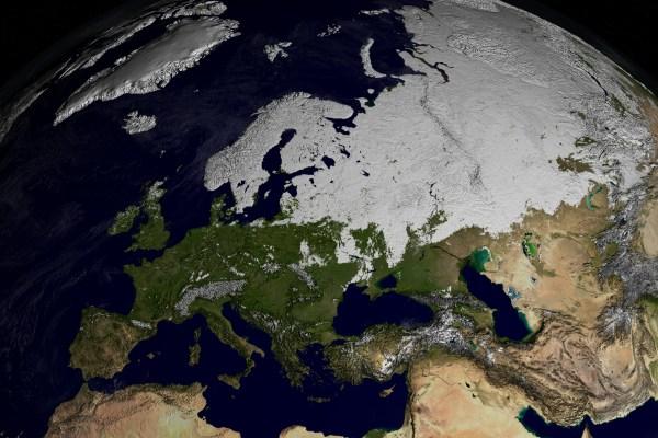 SVS: MODIS Snow Cover over Europe