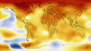 This color-coded map displays a progression of changing global surface temperatures anomalies from 1880 through 2012. The final frame represents global temperature anomalies averaged from 2008 through 2012.