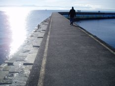 Ogden Point walking the edge, Victoria, Vancouver Island, BC, Pacific Northwest