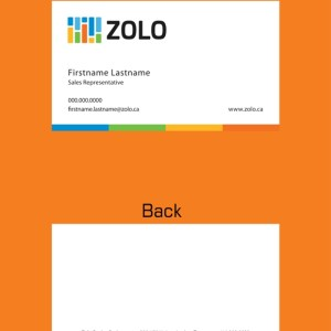 zolo real estate business cards