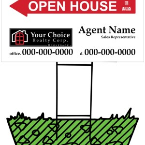 your choice real estate directional sign