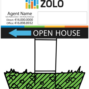 zolo real estate directional sign