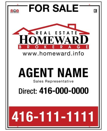 homeward real estate for sale sign