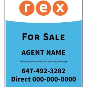 rex real estate for sale sign