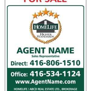homelife real estate for sale sign