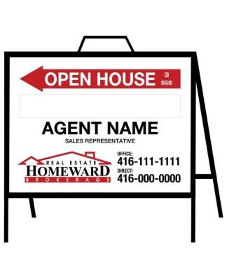 homeward real estate open house sign