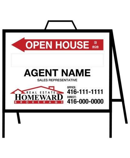 homeward real estate open house sign